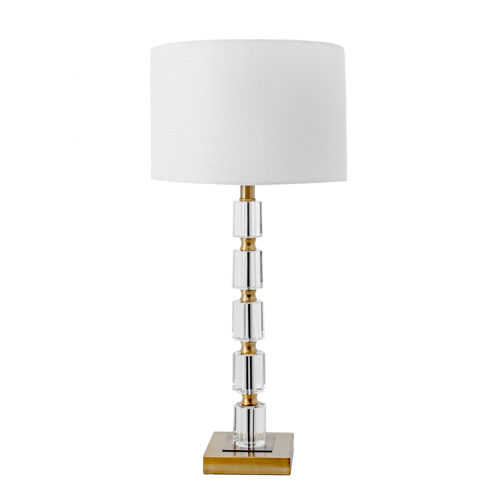 "Manhattan 29"" Brass & Crystal Table Lamp"
