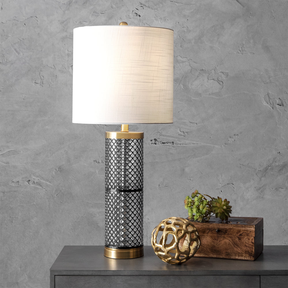 "Newport Glass 31"" Table Lamp"