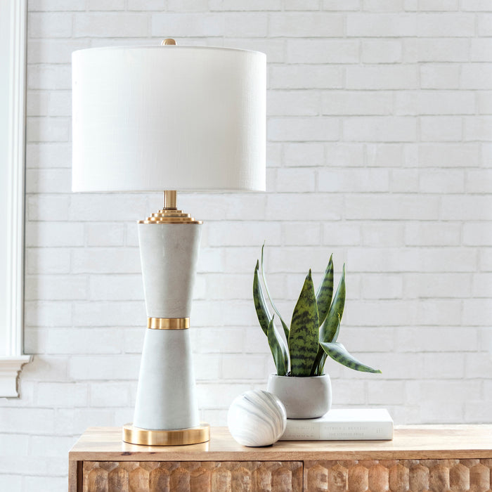 "Pacific 29"" Cement Table Lamp"