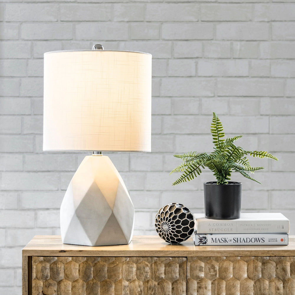 "Ithaca 21"" Cement Table Lamp"
