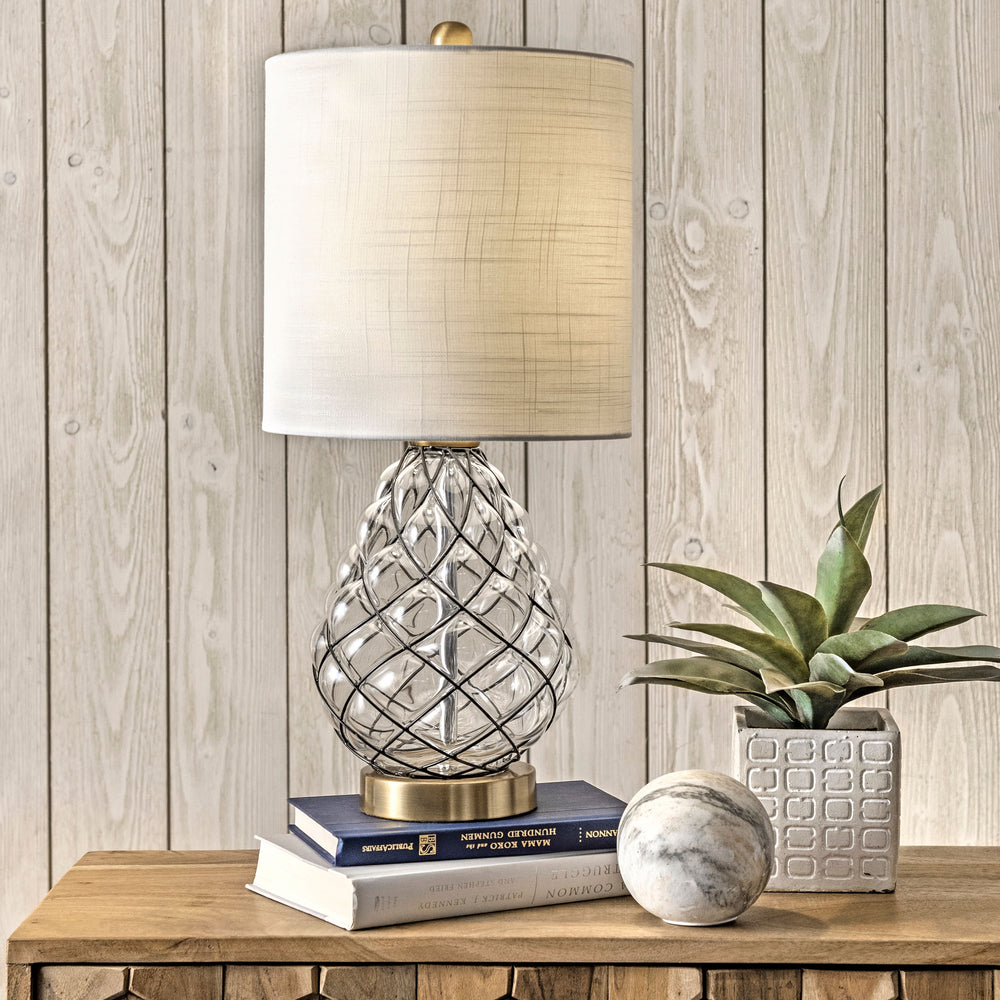 "Beacon 21"" Glass Table Lamp"