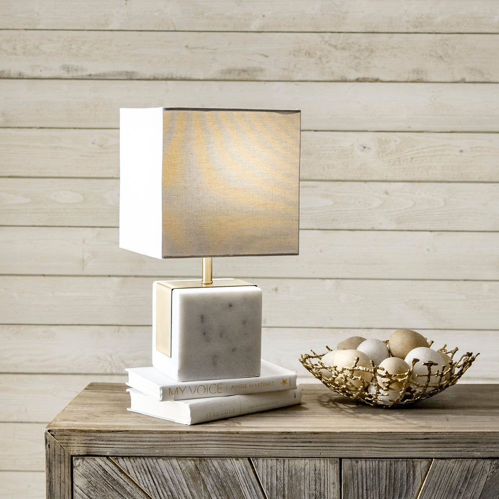"Newell 17"" Marble Table Lamp"