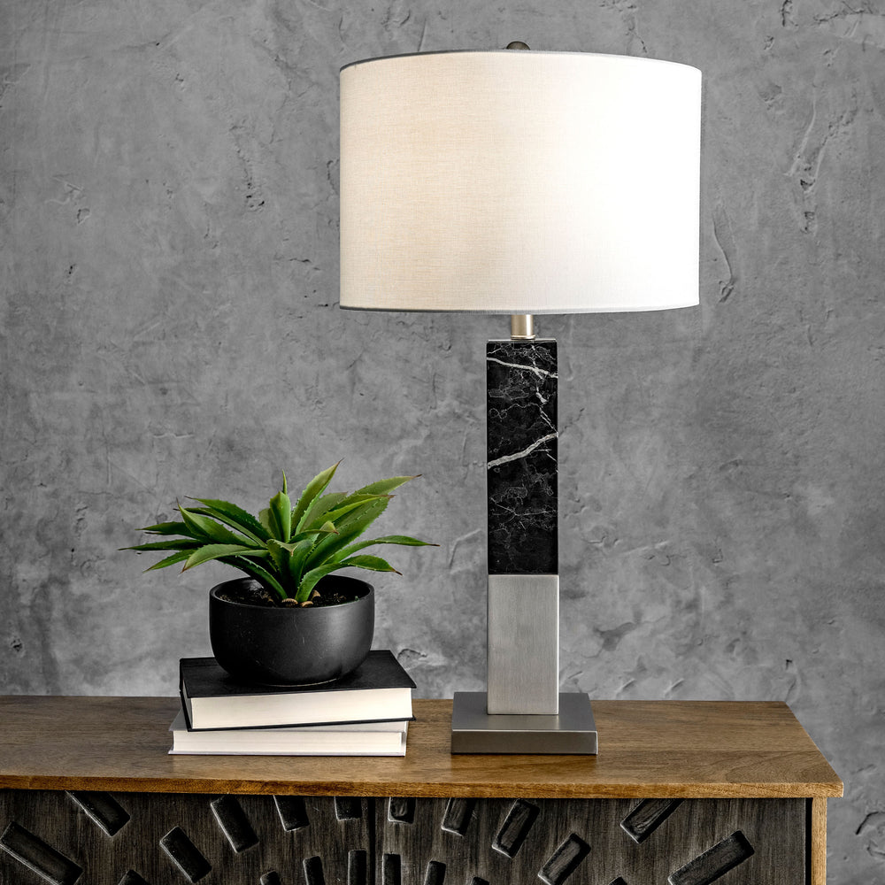 "Trent 28"" Marble Table Lamp"