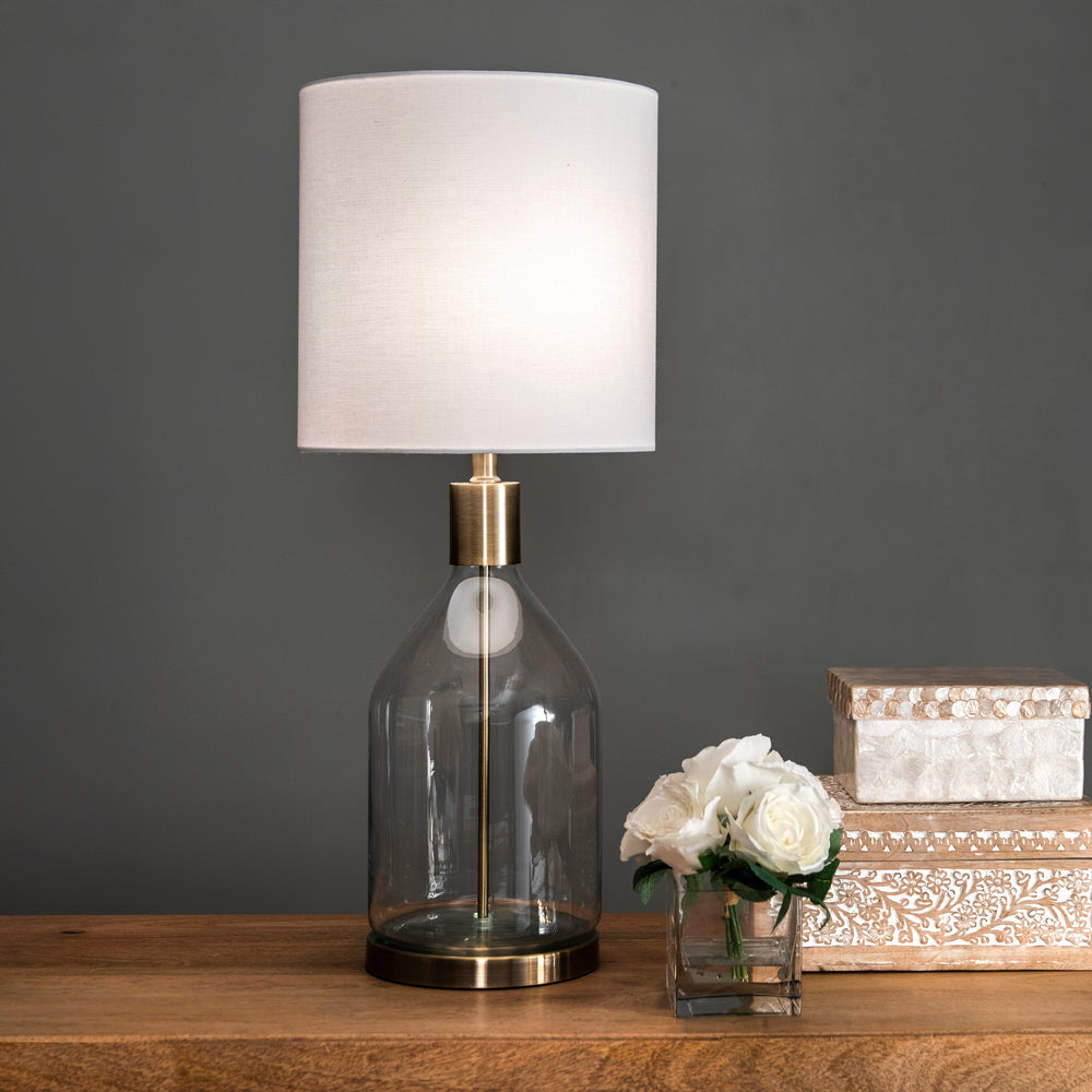 "Vista Glass 29"" Table Lamp"