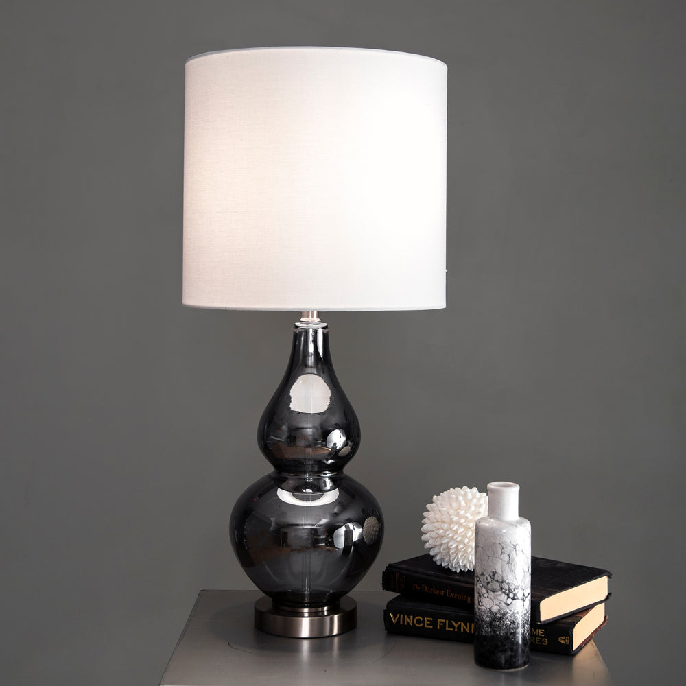 "Allen Glass 29"" Table Lamp"