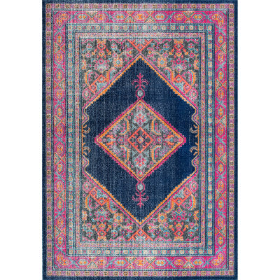 Vintage Bordered Medallion Adame Rug