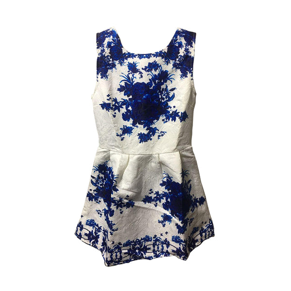 Tailored Embroider Flower Dress