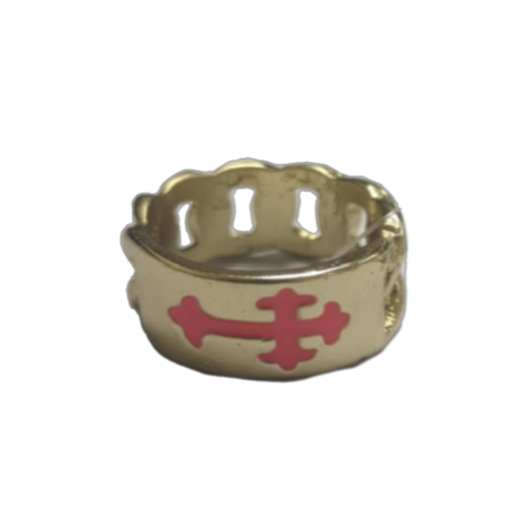 Pink Cross Ring