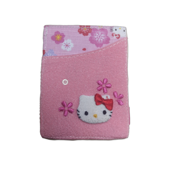 Hello Kitty Sakura Printed Logo Card Holder