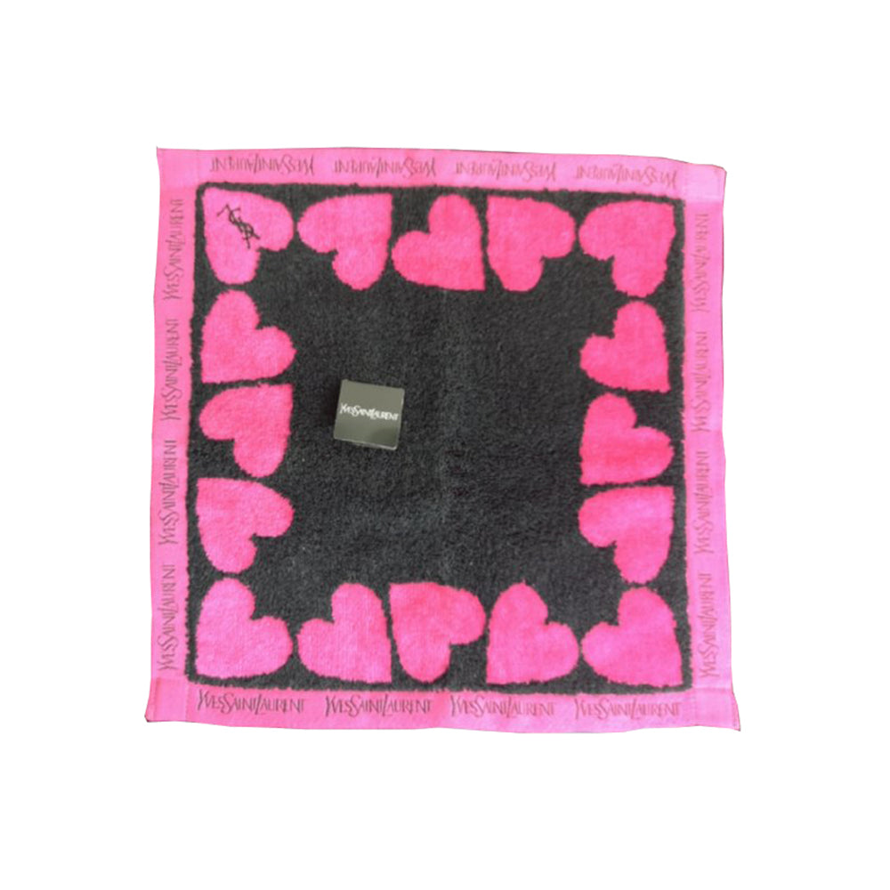 Pink Heart Cotton Towel