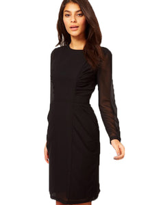 Pencil Dress With Ruched Side Panels
