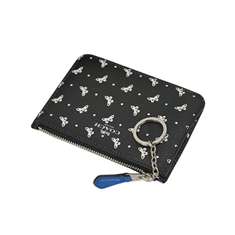 Canvas Cardholder Coin Purse - Black Butterfly Dot