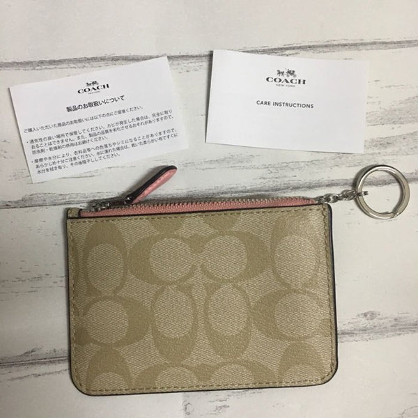 Canvas Cardholder Coin Purse - Pink