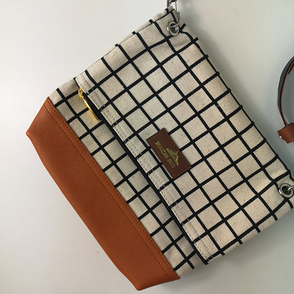 Handmade Canvas Grid Bag