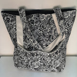 Handmade Rose Print Tote Bag