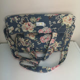 Handmade Flower Print Canvas Bag
