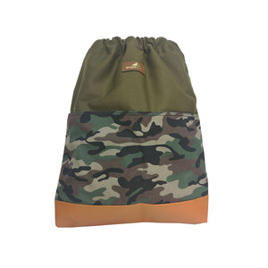Handmade Canvas Camouflage Backpack