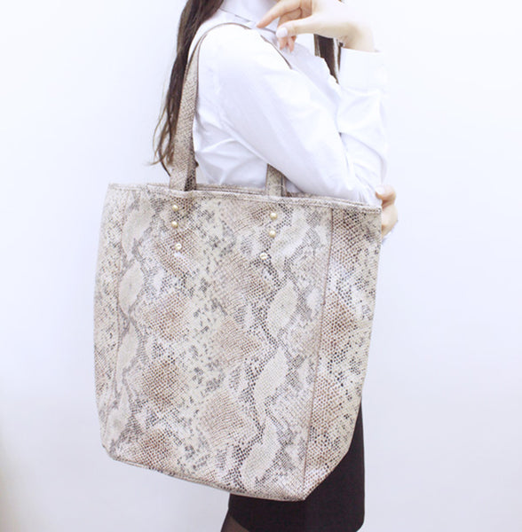 Madison Gem Snake North South Shopper Bag