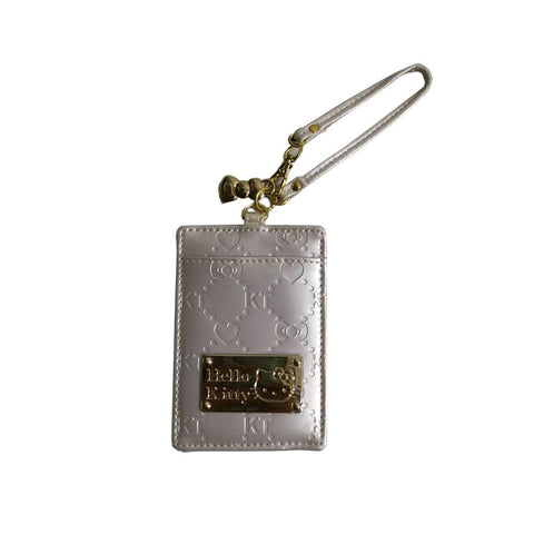 Hello Kitty Silver KT Logo Card Holder