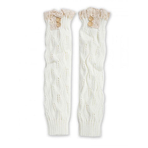 Winter Knee High Cotton-Blend Boot Socks