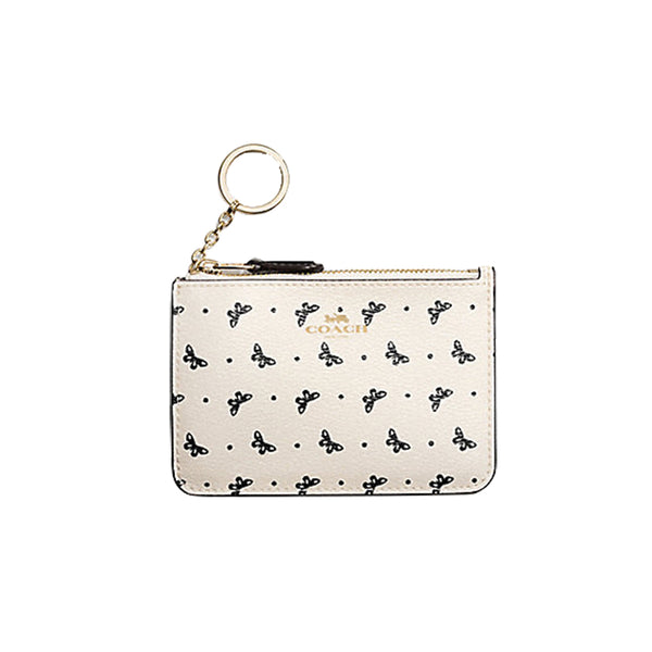 Canvas Cardholder Coin Purse - Butterfly Dot