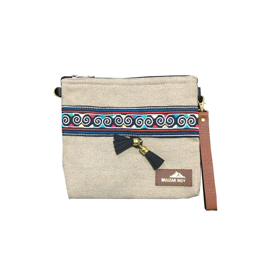 Handmade Canvas Fabric Ethnic Small Bag