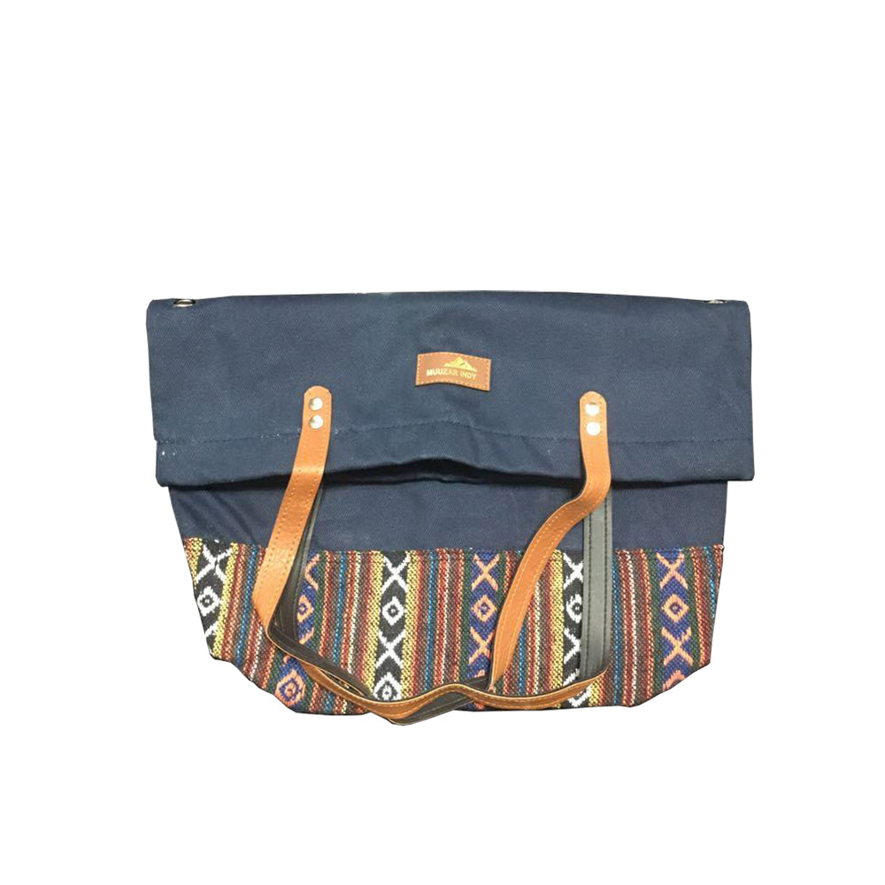 Handmade Canvas Fabric Slant Bag