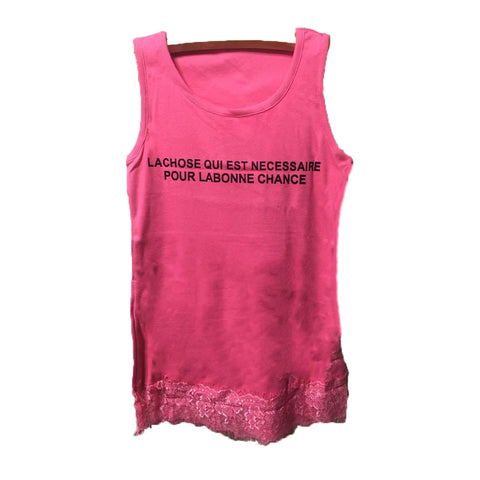 Lace Alphabet Cotton Vest