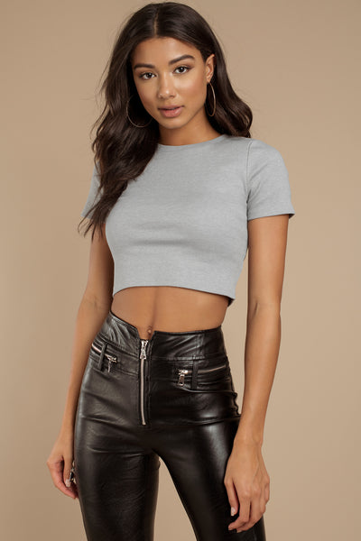 Influence Women's Cap Sleeve Crop Top