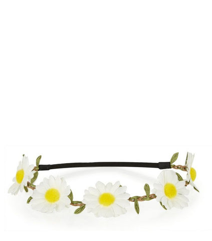 White Daisy Hair Garland