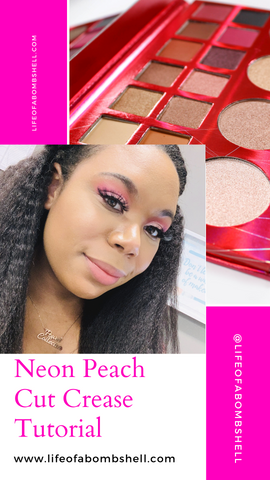 Neon Peach Cut Crease Tutorial
