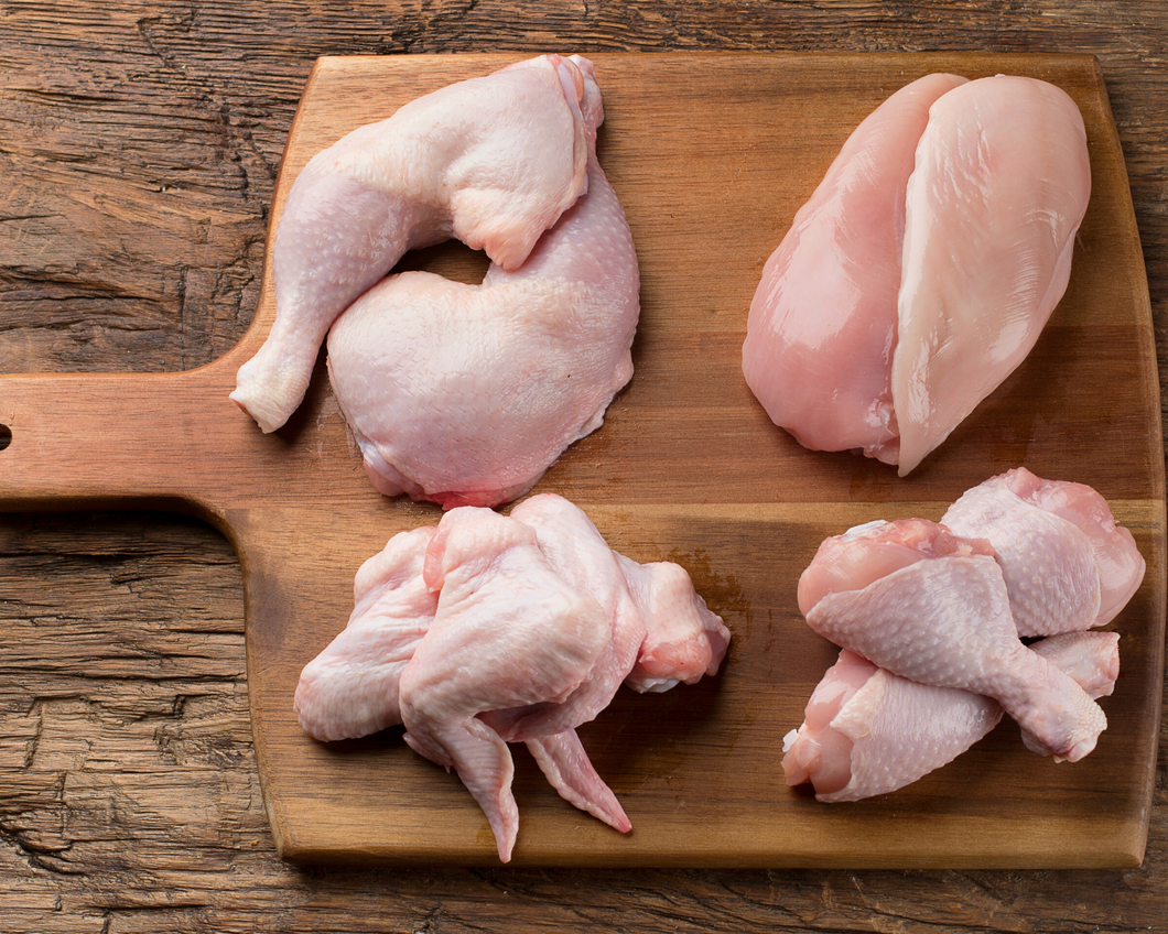 Pieced out Non-GMO chicken package - August