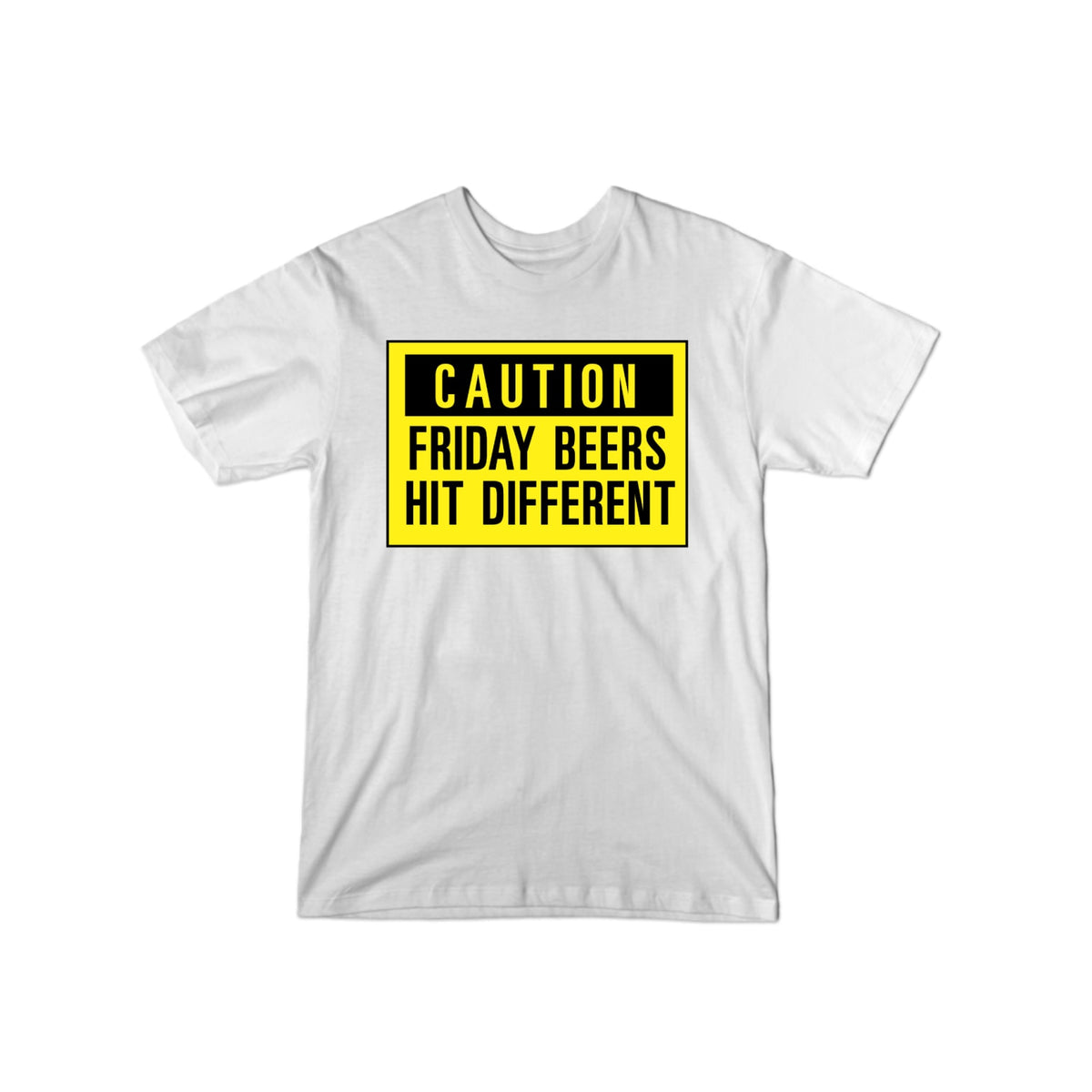 Friday Beers Caution T-Shirt