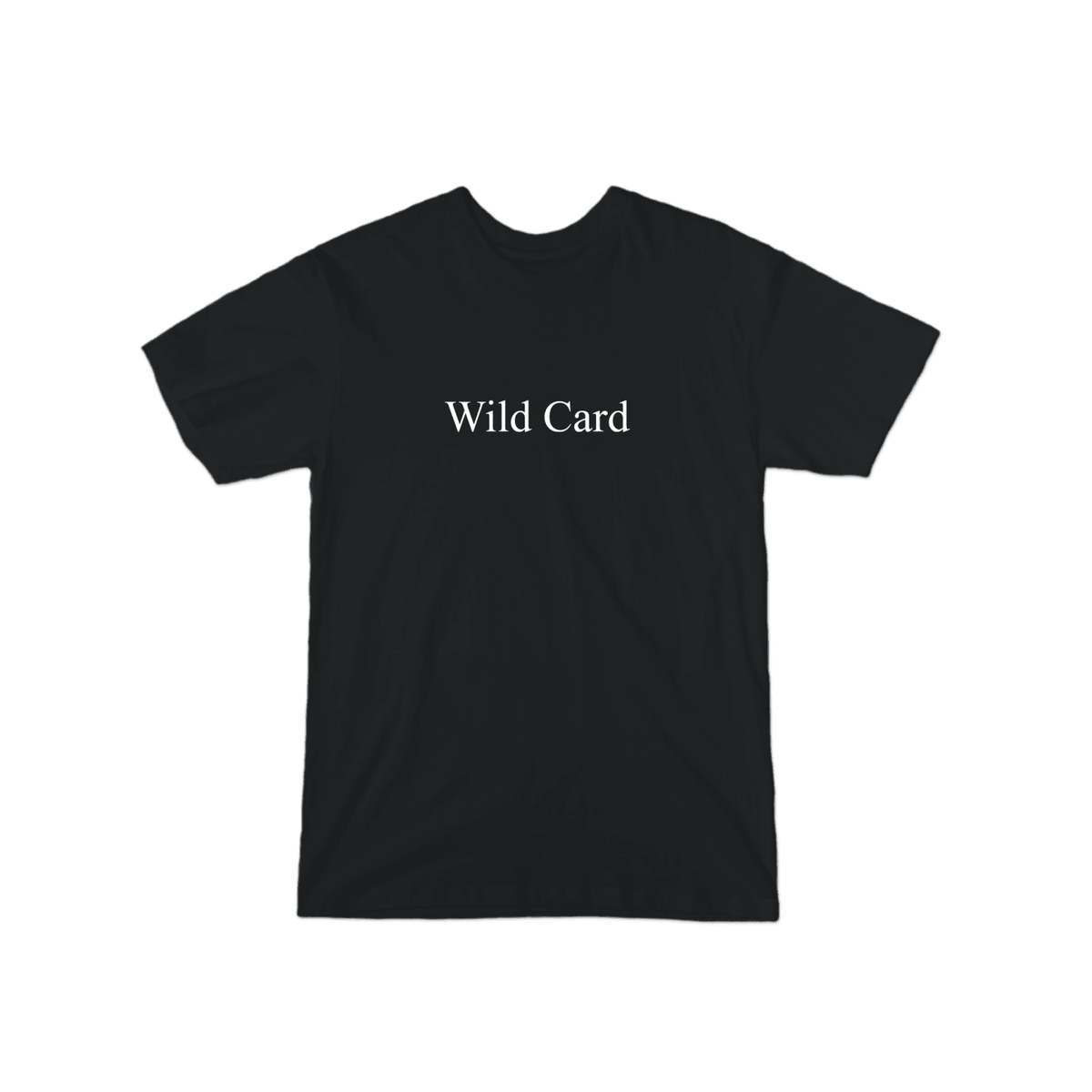Wild Card Character T-Shirt Black