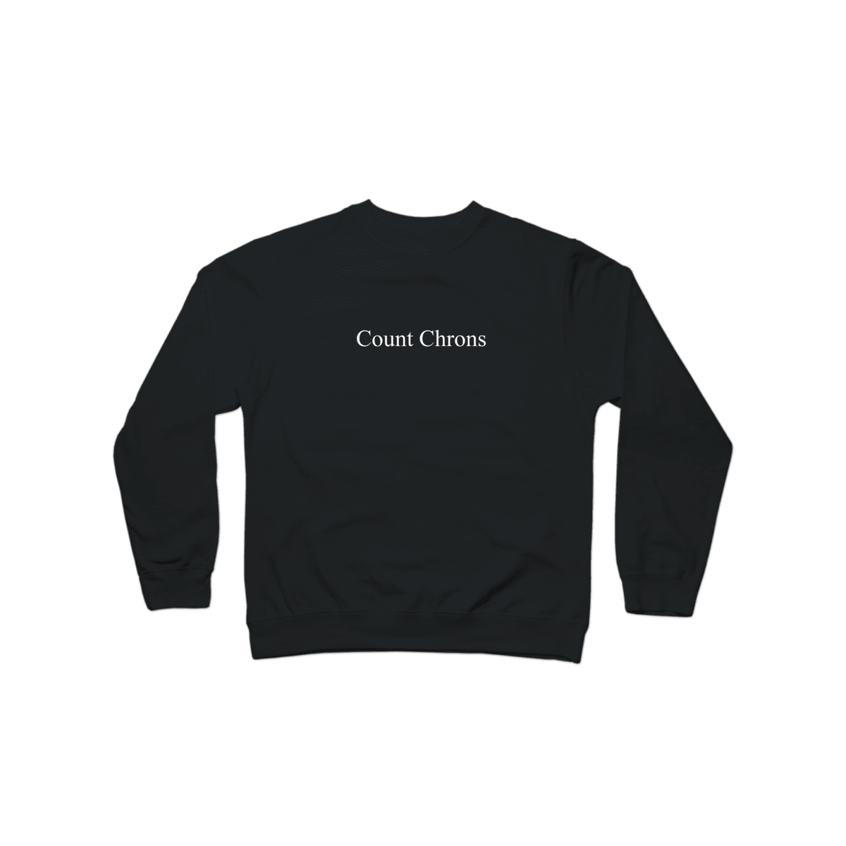 Count Chrons Character Crewneck Black