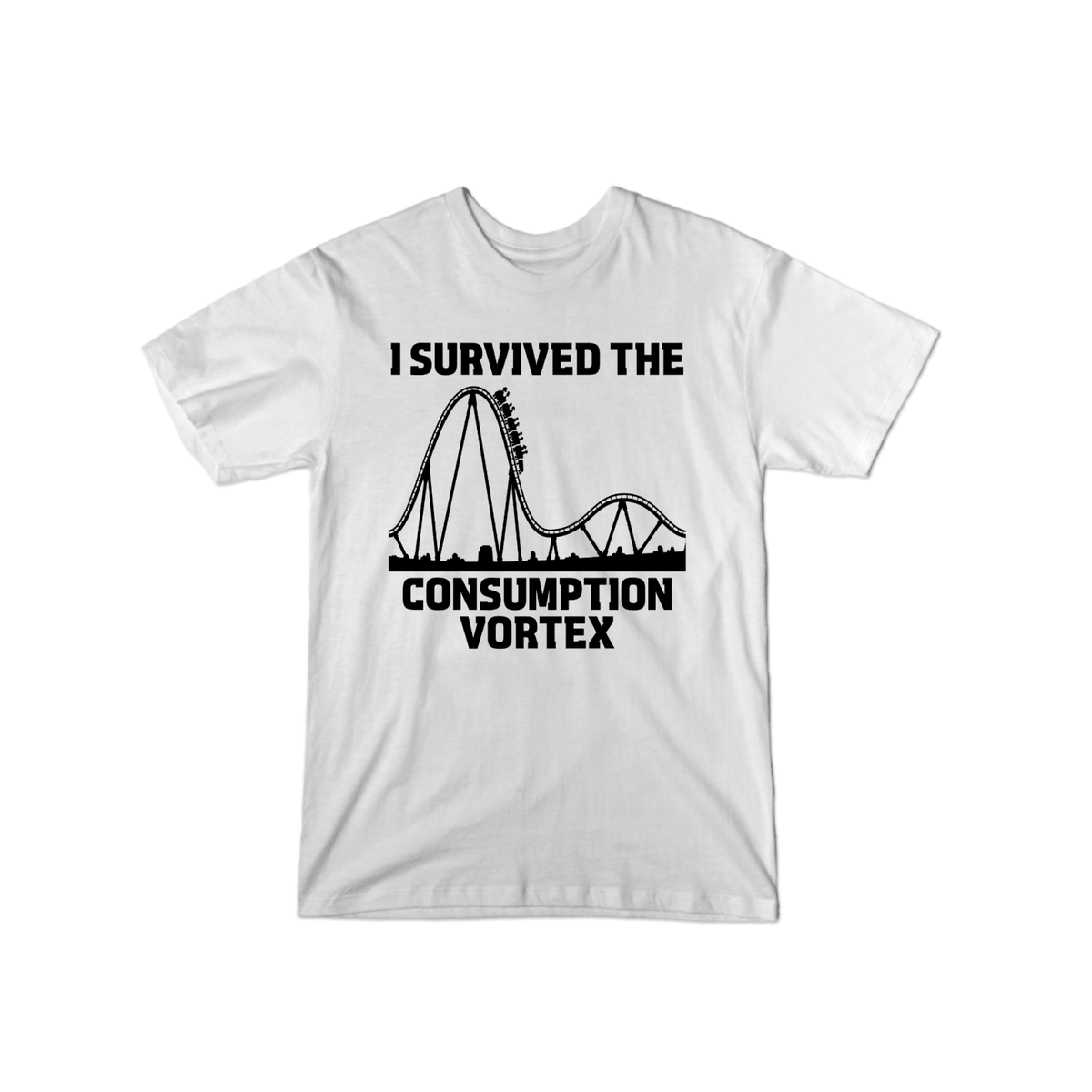 Survived Consumption Vortex T-Shirt White