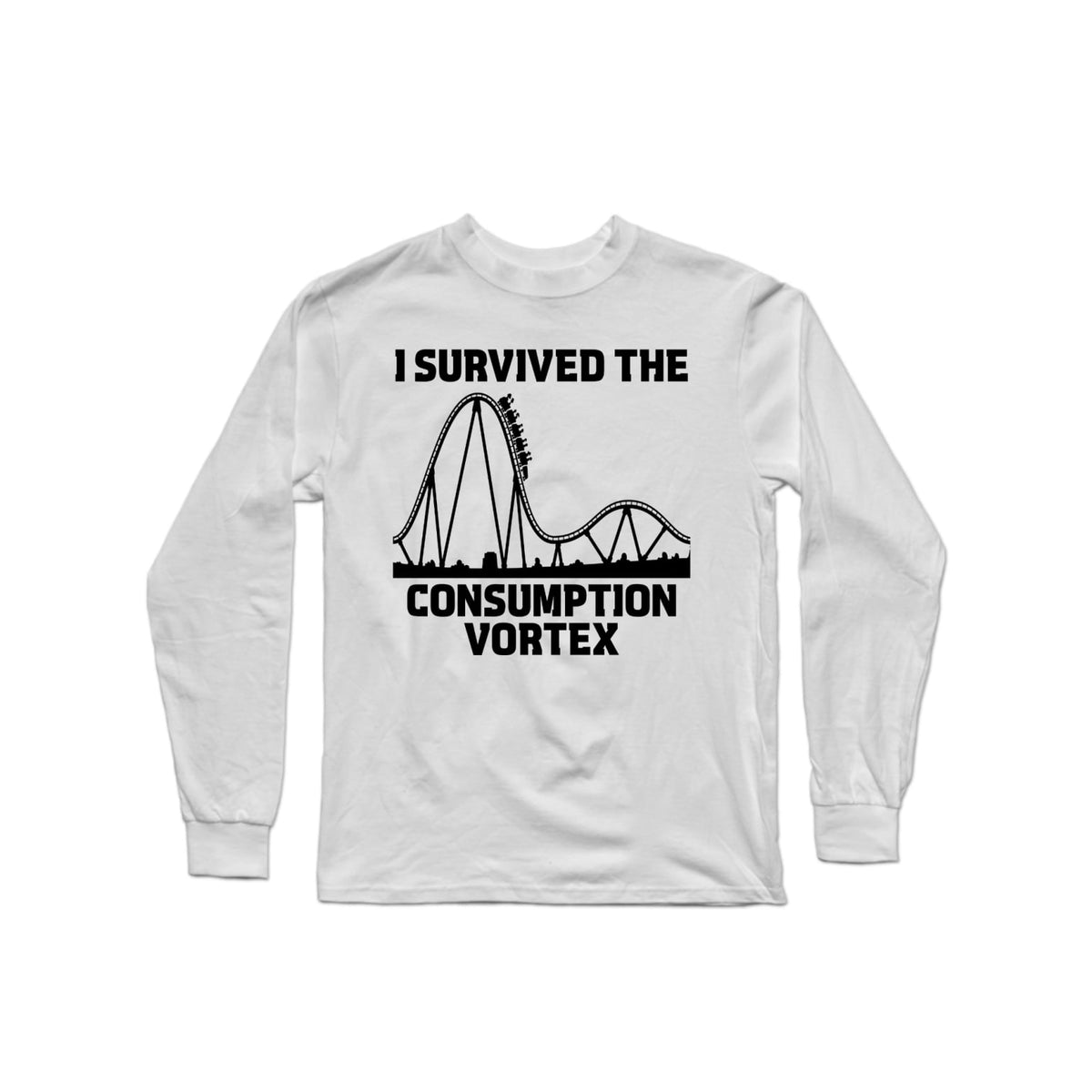 Survived Consumption Vortex Long Sleeve White