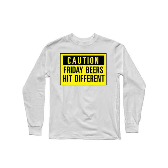 Friday Beers Caution Longsleeve Shirt