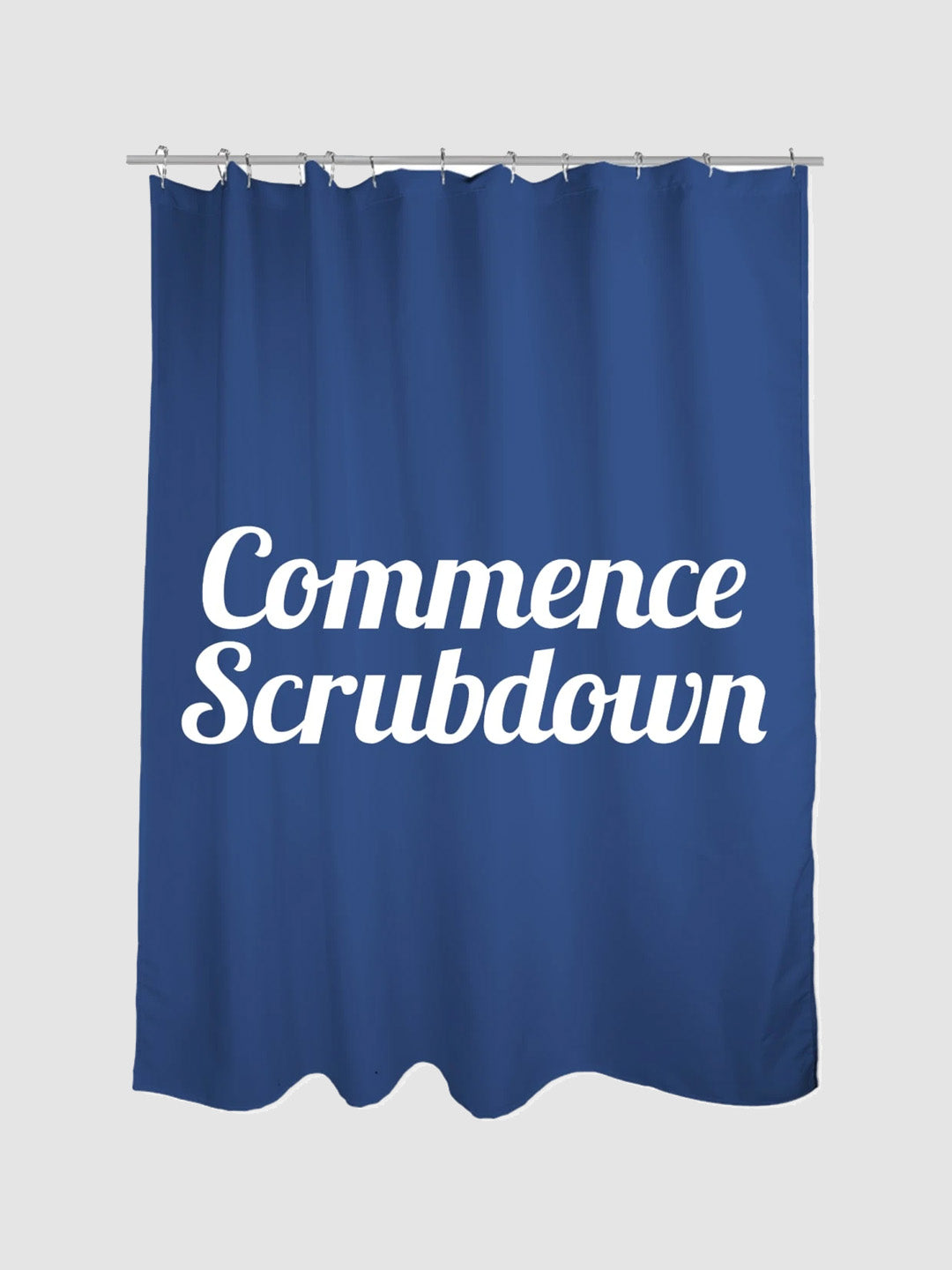 Commence Scrubdown Shower Curtain Blue