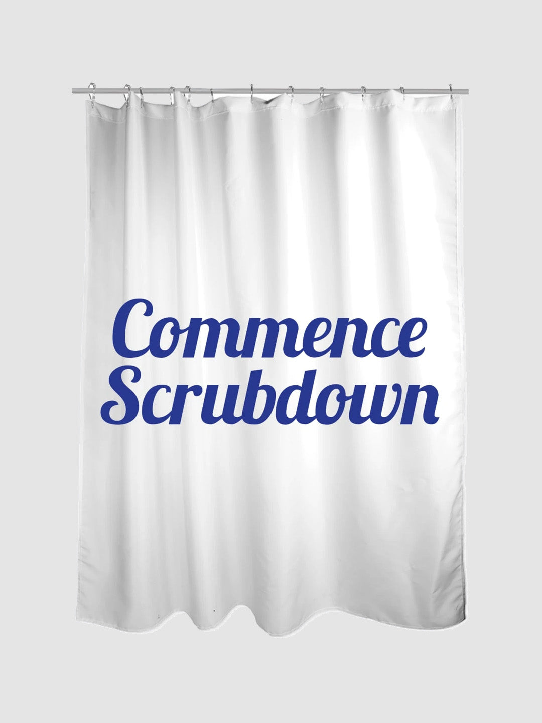 Commence Scrubdown Shower Curtain White