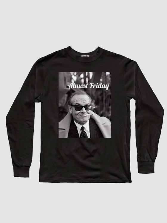 Almost Friday Smirk Longsleeve Shirt