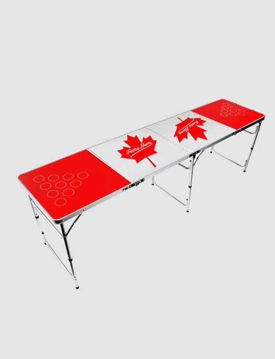 Maple Leaf Beer Pong Table