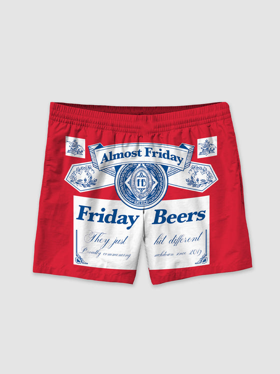 Friday Beers Swim Trunks