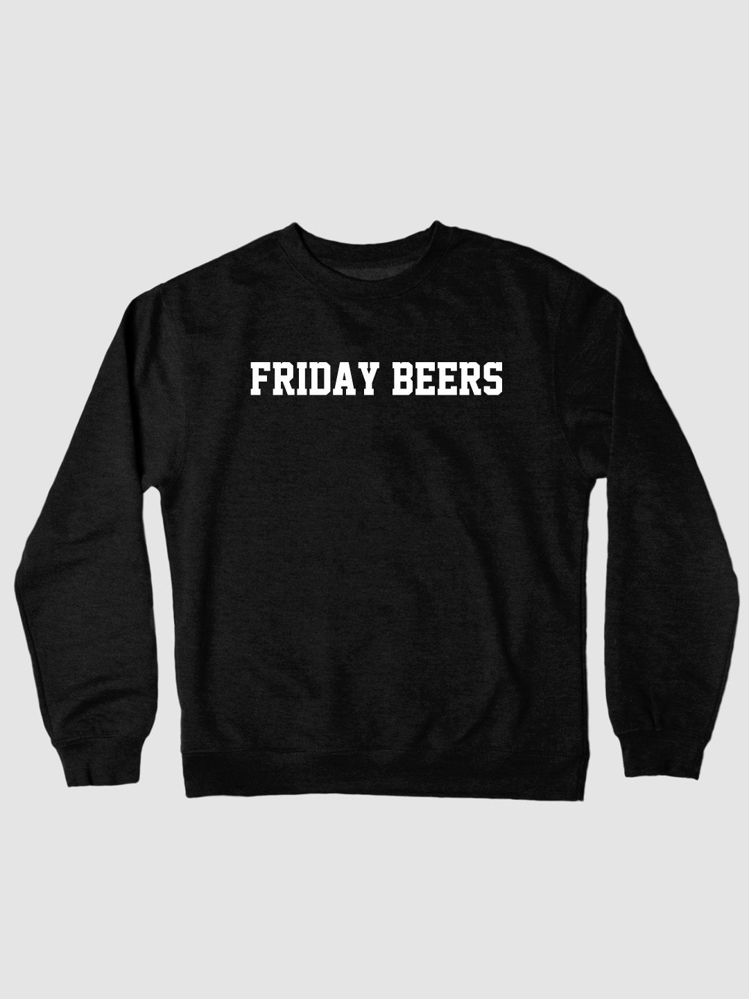 Friday Beers College Crewneck Black