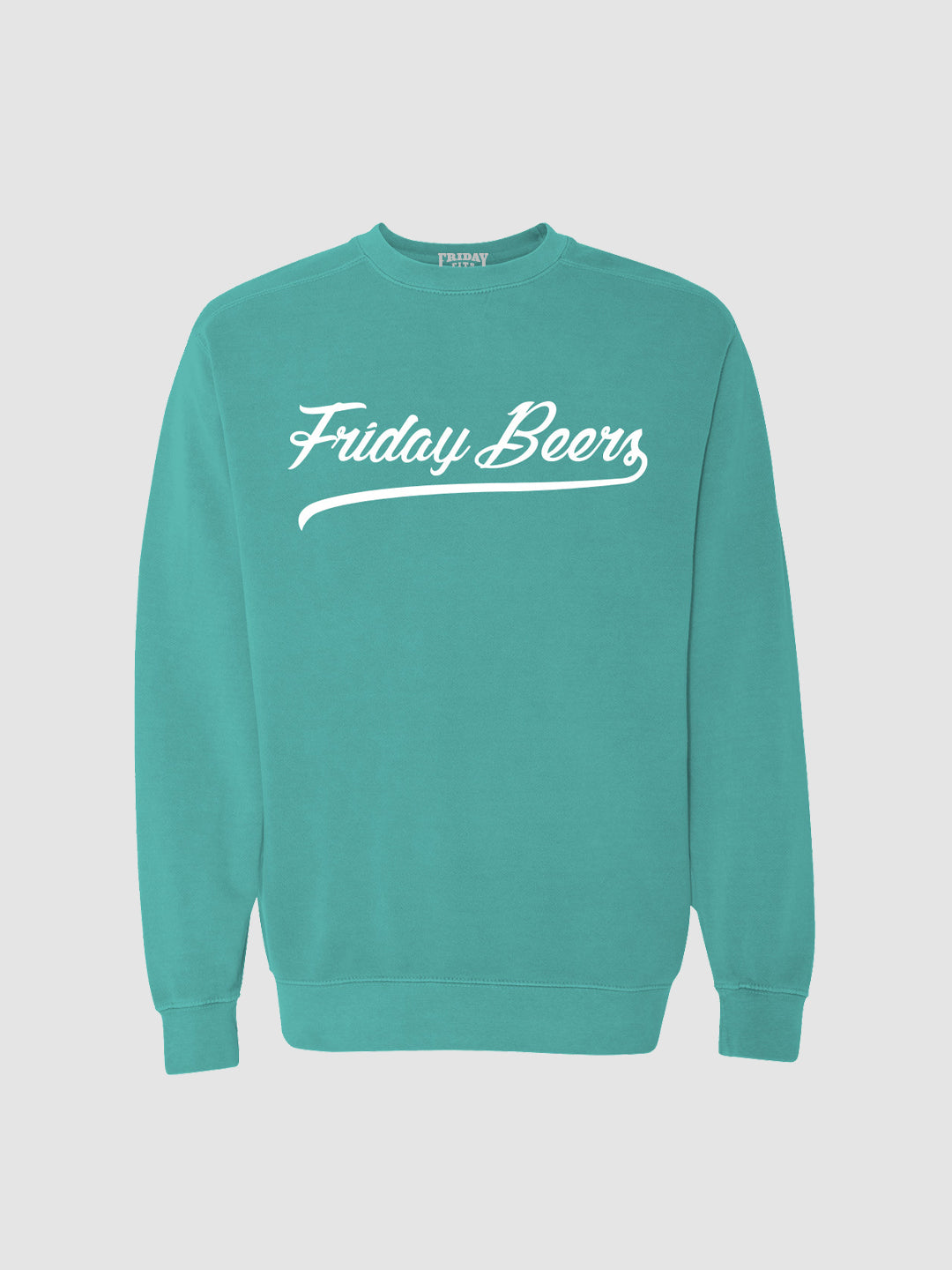 Friday Beers Crewneck Chalky Mint