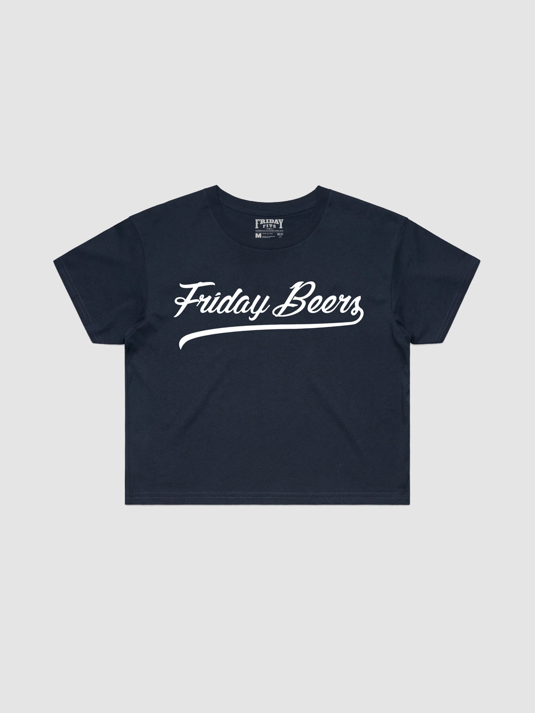 Friday Beers Crop Top Navy
