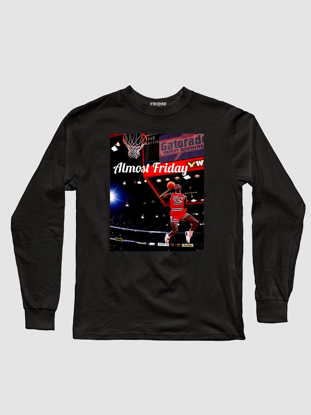 Almost Friday Free Throw Line Long Sleeve