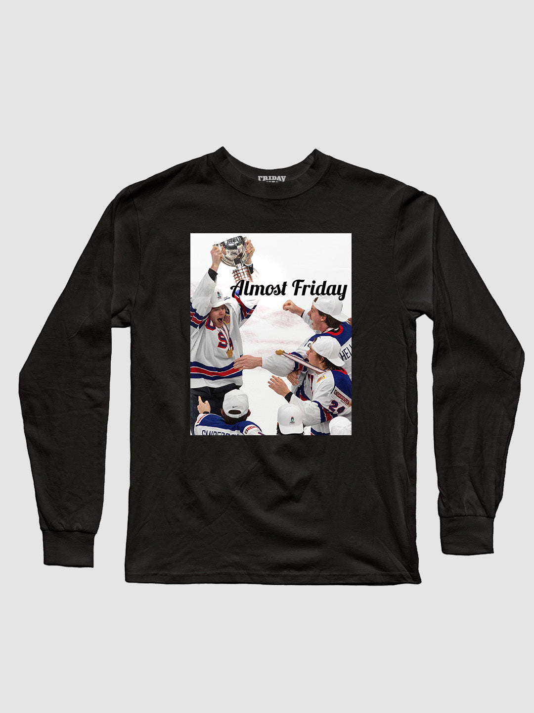 Almost Friday Gold Longsleeve Shirt