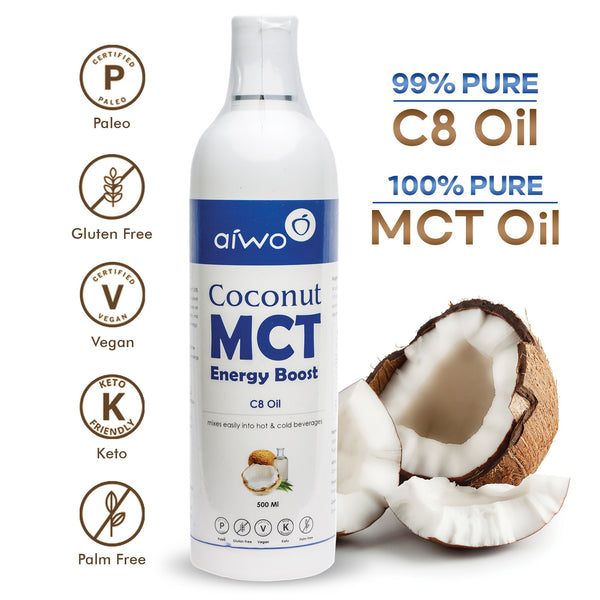 100% Pure C8 MCT oil for ketosis