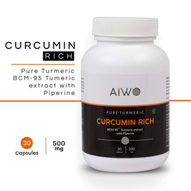 Curcumin Tablets | From Turmeric | With Piperine